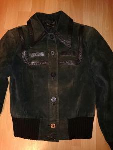 Semišová kožená bunda pravá kůže