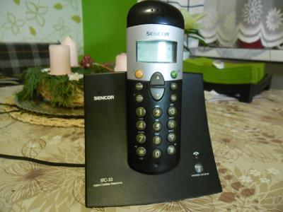 Bezdrátový telefon černý, senkor ,plně funkční. NEVYUŽITY'  ! ! !