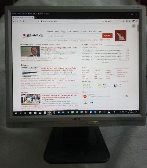 """Monitor ACER 17"""", plně funkční, s reproduktory - Příslušenství k PC"""