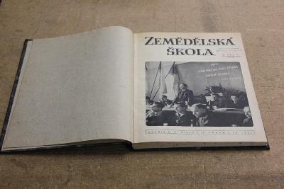 STARÉ SVÁZANÉ ČASOPISY  ZEMĚDĚLSKÁ ŠKOLA ROK 1954