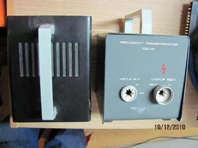 Převodní transformátory 100 V / 4 ohmy - 4 ohmy / 100 V, 100 W, 2 kusy