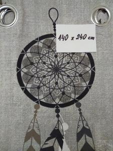 Závěs s kroužky 140 X 240 cm