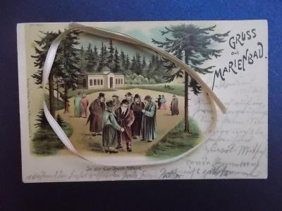 Karlovy Vary Mariánské lázně luxusní koláž lito Judaika Židé Rabín RAR