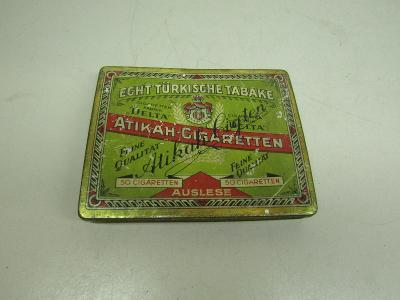 Starožitná kovová krabička od cigaret / Atikah cigaretten