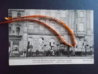 Karlovy Vary Karlsbad Slovanská Beseda vytlučená pogrom násilí Němců