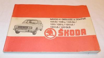 Škoda 105 120  - český návod k obsluze a údržbě