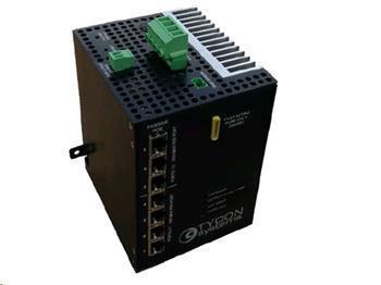 Solární controller s dohledem a integrovaným 8mi portovým switchem