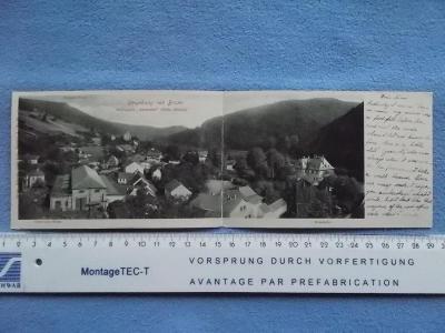 Blansko Moravské Švýcarsko Adamov hut železárny Dvojdílná rozkládací