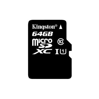 Paměťová karta Kingston microSDXC, 64GB- černá