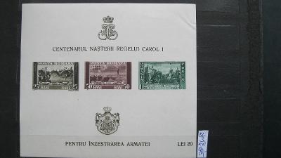 Rumunsko - čistý aršík katalogové číslo BL 3