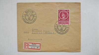 Deutsches Reich - doporučený dopis zaslaný z Berlína do Jihlavy