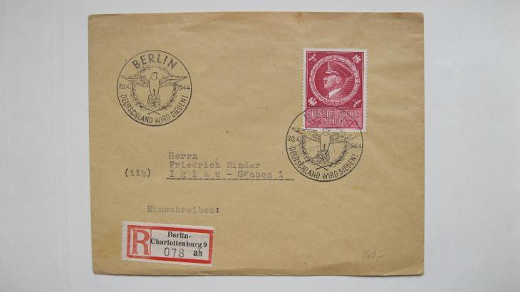 Deutsches Reich - doporučený dopis zaslaný z Berlína do Jihlavy - Filatelie