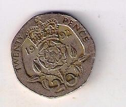 Velká Británie 20 Pence 1992