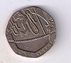 Velká Británie 20 Pence 2008