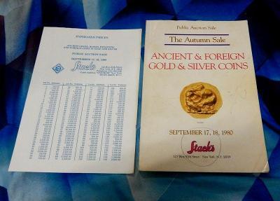 Starý aukční katalog mincí  - vydán v  roce 1980 v New Yorku