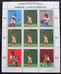 Paraguay 1988 LOH Soul, tenis Mi# 4261 Bogen Kat 20€ 1805