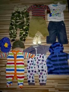 Set Oblečení 0-9 měsíců. Většina nová ,nenošená.