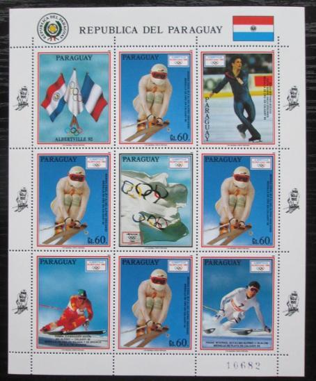 Paraguay 1990 ZOH Albertville, lyžování Mi# 4475 Bogen Kat 20€ 1807 - Filatelie