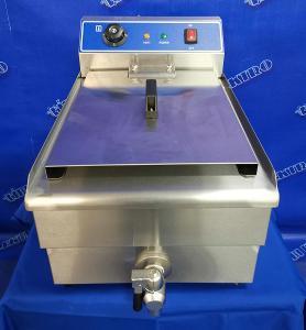 Gastro fritéza 16 litrů 5kW vypouštěcí kohout
