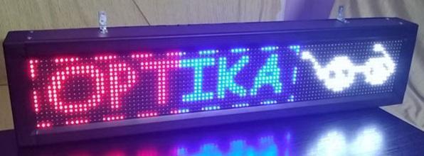 Programovatelná LED reklama - světelný panel s Wi-Fi komunikací NOVÁ