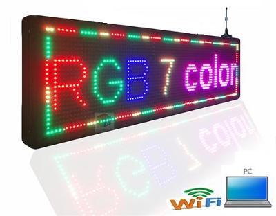 Programovatelná atraktivní barevná světelná LED reklama - panel s WiFi