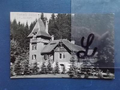 Beskydy Frýdek Místek  Staré Hamry hotel Bílá razítko nájemce Drápalík