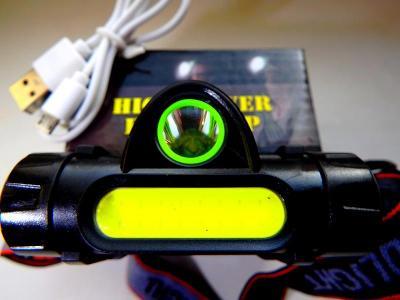 NOVINKA NABÍJECÍ USB LED ČELOVKA S PROSTOROVÝM SVĚTLEM A MAGNETEM