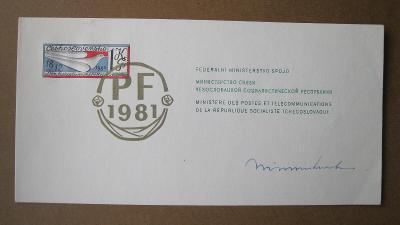 Československo - federální ministerstvo spojů -  VT 10 Ab PF 1981