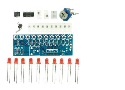 Běžící světlo-modul SMD s NE555+CD4017 STAVEBNICE SMD