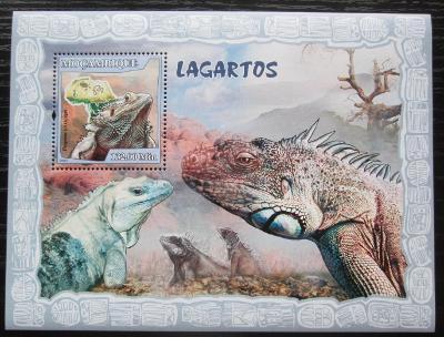 Mosambik 2007 Ještěři Mi# Block 222 Kat 10€ 1821