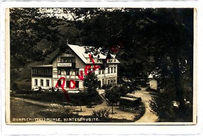 Zadní Doubice Český mlýn 1921 Jetřichovice Hřensko Chřibská Děčín 2624
