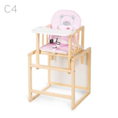 Jídelní židlička Klups Aga borovice krémová C4