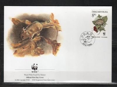 { ČR/ 101 } - FDC ČESKA REPUBLIKA - OFICIAL WWF -FAUNA -  HLODAVCI