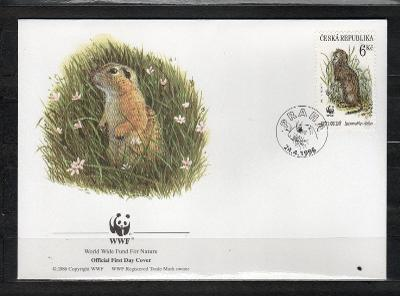 { ČR/ 102 } - FDC ČESKA REPUBLIKA - OFICIAL WWF -FAUNA -  HLODAVCI