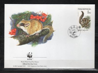 { ČR/ 103 } - FDC ČESKA REPUBLIKA - OFICIAL WWF -FAUNA -  HLODAVCI