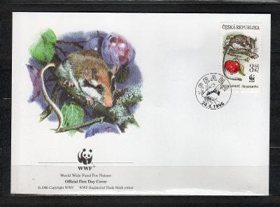 { ČR/ 104 } - FDC ČESKA REPUBLIKA - OFICIAL WWF -FAUNA -  HLODAVCI