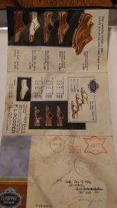 leták prospekt s cenami bot 1933