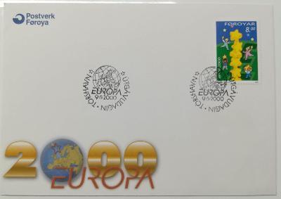 Europa 2000 - společné vydání s ČR - FDC Faerské ostrovy