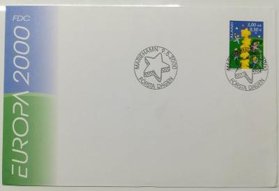 Europa 2000 - společné vydání s ČR - FDC Alandy