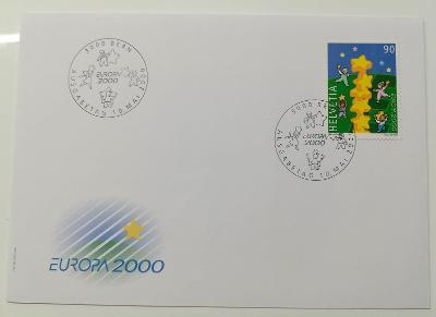Europa 2000 - společné vydání s ČR - FDC Švýcarsko