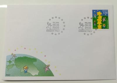 Europa 2000 - společné vydání s ČR - FDC Estonsko