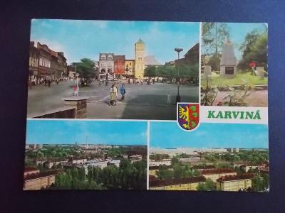 Bohumín Karviná Fryštát Pomník osvobození Rudá hvězda armáda sídliště