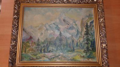 Ceněný Theo von Brockhusen - olej, plátno - razítka- příležitost