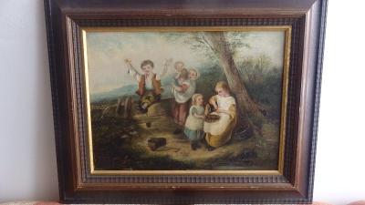 Quido Mánes - Děti - olej, plátno - zajímavé!!!!