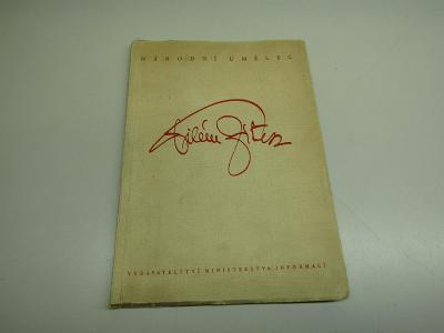 Stará kniha Národní umělec Vilém Zítek 1947