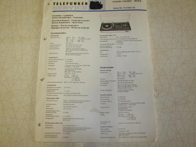 Servisní  manual  Telefunken  music center 3022