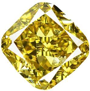Přírodní barevný diamant 0,36 ct, Si2, Intense Yellow + CERTIFIKÁT ČGL