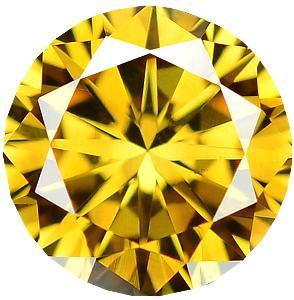 Přírodní barevný diamant 0,21ct, SI2, Intense Yellow + CERTIFIKÁT ČGL