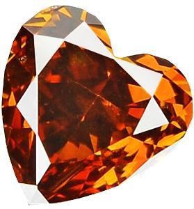 Přírodní barevný diamant 0,36ct, I1,Dark Orangy Brown + CERTIFIKÁT ČGL