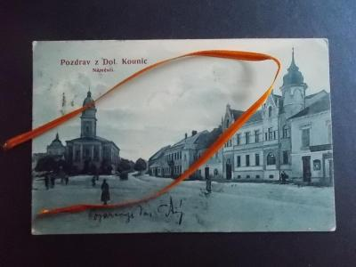 Brno venkov Dolní Kounice  náměstí kostel restaurace